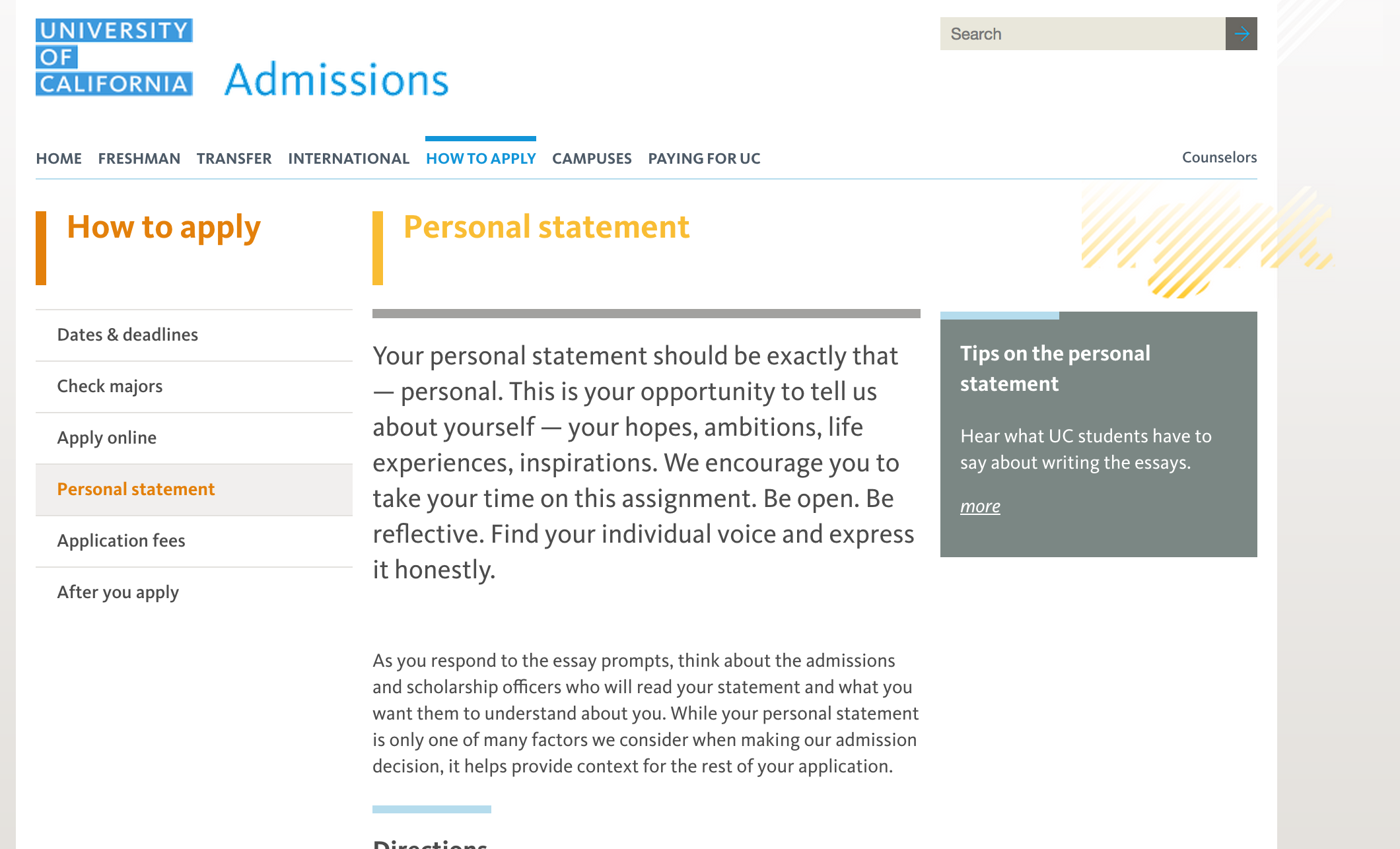 common app personal statement
